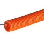Гофро-труба ПНД с зондом (черная/оранжевая)