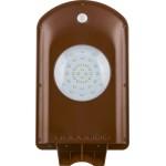 SP2331 уличный на солнечной батарее 2W, 6400K, с датчиком движения, IP65, коричневый, 365*205*58мм