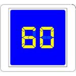 """Светодиодный  дистанционно-управляемый дорожный знак """"Рекомендуемая скорость"""""""