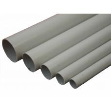 Трубы ПВХ серые 3-х метр. (жёсткие)