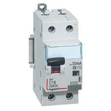 Выключатель автоматический дифференциального тока 2п (1P+N) C 16А 30мА тип AC 6кА DX3 2мод. Legrand 411002