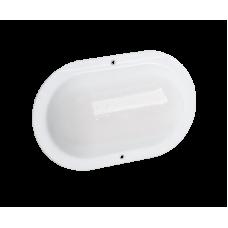ЖКХ овал матовый, 8 Вт, светодиодный светильник с акустическим датчиком