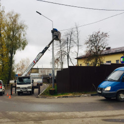 Масштабный ремонт и обновление линий электроосвещения в Московской области