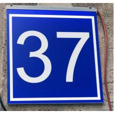 Указатель дома ДБО 46-20, 600*600 (аналог ДБУ69-40-001 У1 номер дома 600x600 К3) табличка на дом