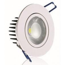 Точечные светодиодные светильники споты DCO-D88-5 3000К встраиваемые круглые для подвесных потолков