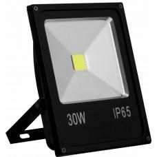 Прожектор черный прямоугольный SFL70-30 30W, 6400K, IP65