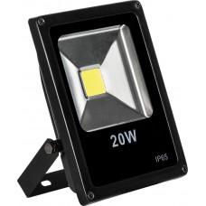Прожектор черный прямоугольный SFL70-20 20W, 6400K, IP65
